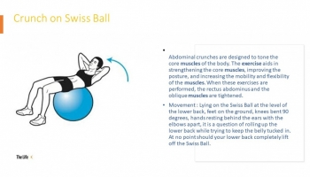 Crunch on Swiss ball